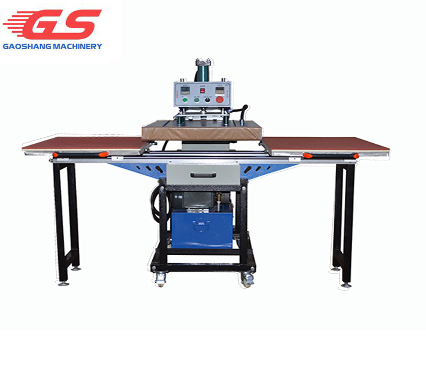 Hydraulic oil driver bottom sliding way double worktable
